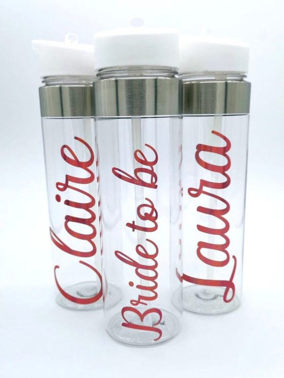 Clear Personalised Water Bottle