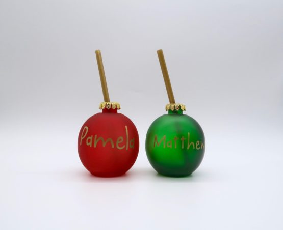 Christmas Novelty Drinks Bauble – Set of 2