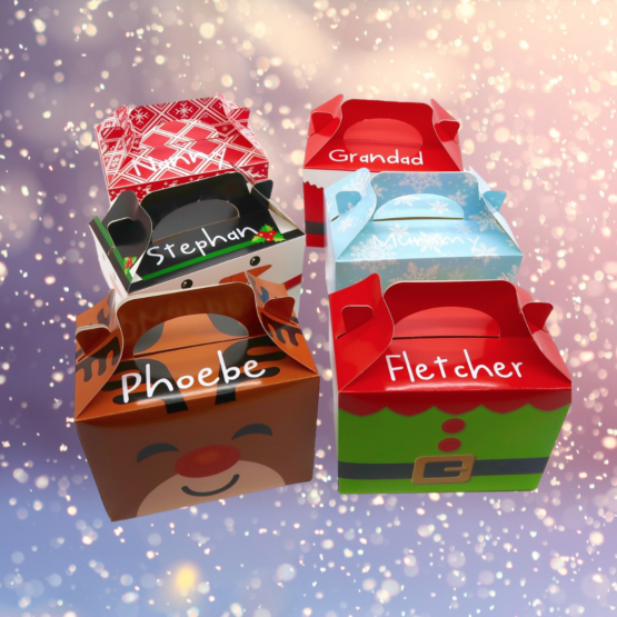 Personalised Christmas Treat Boxes