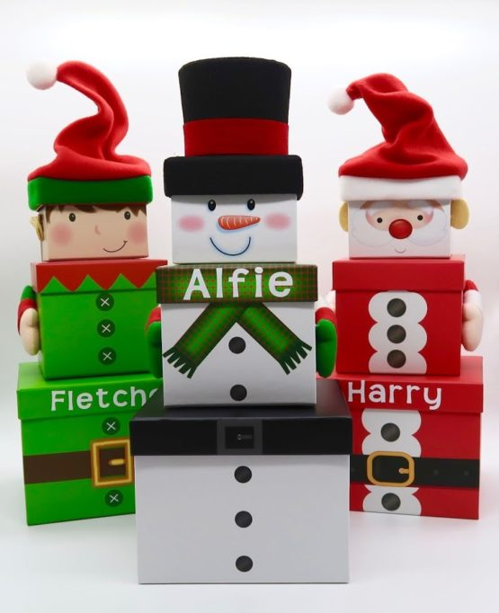 Personalised Christmas Stacking Boxes