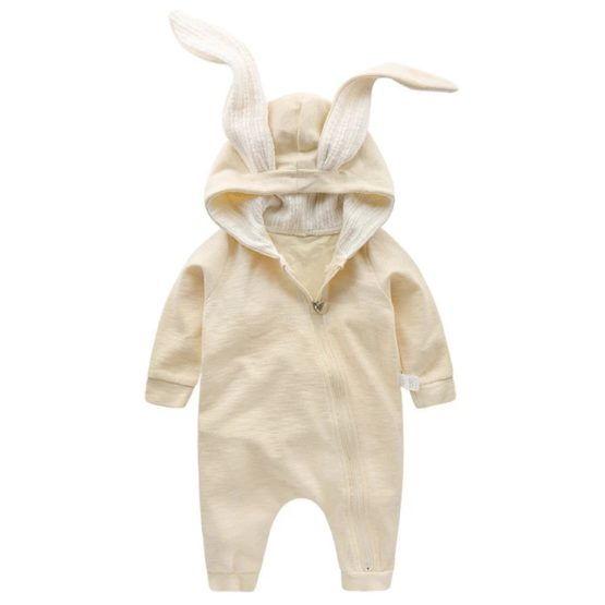 Personalised Baby Bunny Suit CREAM