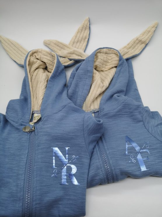 Personalised Baby Bunny Suit BLUE