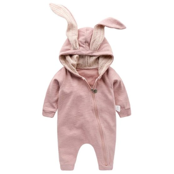 Personalised Baby Bunny Suit PINK