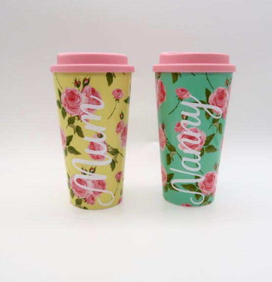 Floral Plastic Travel Mug