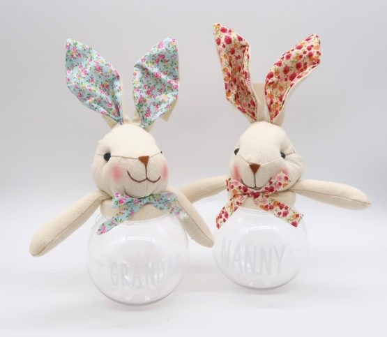 Floral Easter Bunny Sweet Jars